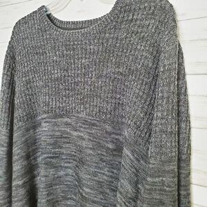 Calvin Klein Wool Blend Heathered Gray Sweater XL